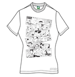 T-shirt Moomin da donna Moomin Falls In Love Comic Strip