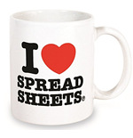 Mugs - I Love Spreadsheets Mug (Tazza)
