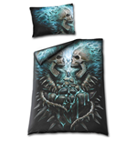 Flaming Spine Single Duvet Cover + Uk And Eu Pillow Case (Copripiumino + Federa)