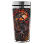 Dragon Collage - Thermo Travel Mug - Flask 0.45l (Tazza)