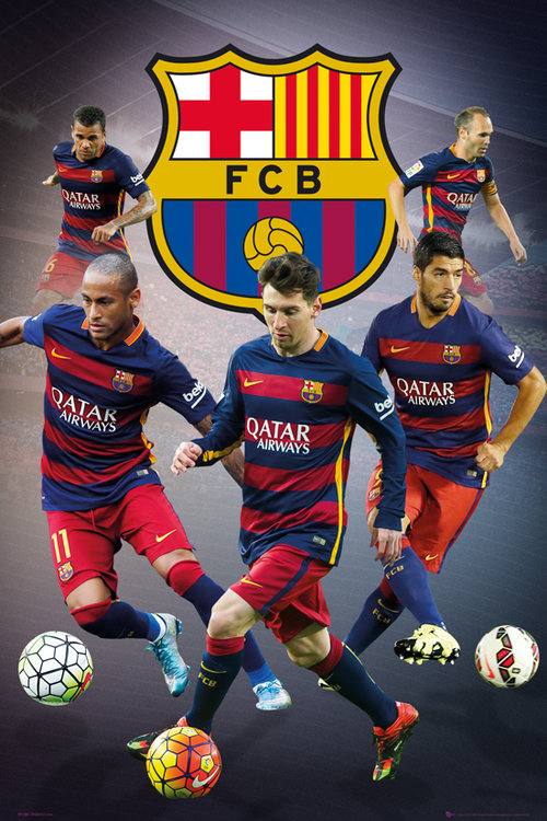 Poster Barcellona Star Players