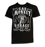 T-shirt Gas Monkey Garage Jack Daniels Style