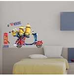 Wall Sticker I Minions Vespa