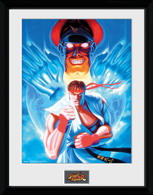 Poster Street Fighter Ryu and Bison incorniciato