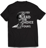 T-shirt Narcos Silver Or Lead