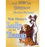 Disney Classic - Film Posters - Lilli e il Vagabondo/Lady And The Tramp (Magnete Metallo)