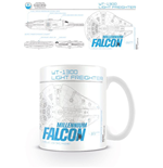 Tazza Star Wars Episode VII Millenium Falcon Sketch