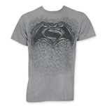 T-shirt Batman vs Superman Stone Logo