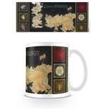 Tazza Il trono di Spade (Game of Thrones) - Mappa