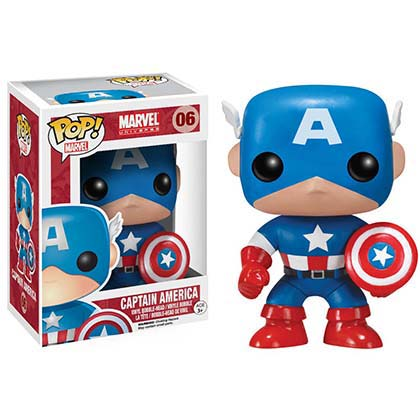 Pupazzo Bobble Head Funko Pop CAPITAN AMERICA