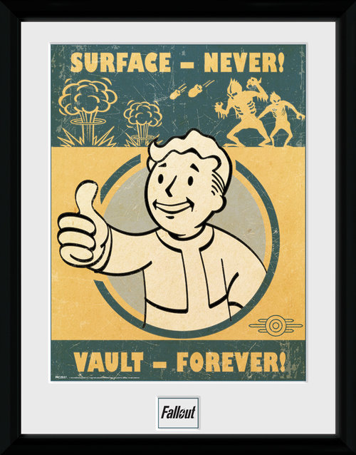 Poster Fallout 4 Vault Forever incorniciato