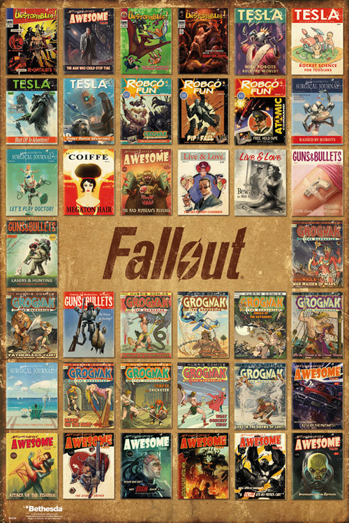 Poster Fallout 4 Magazine Compilation