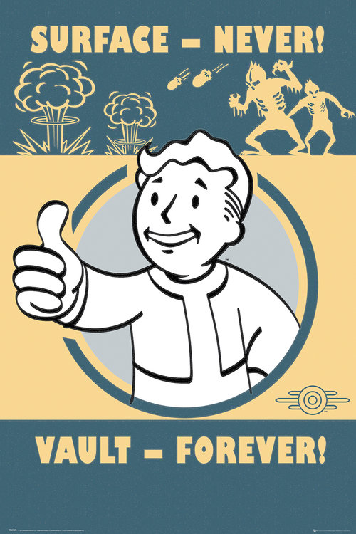 Poster Fallout Vault Forever