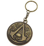 Assassin's Creed IV - Round Metal Crest & Skull (Portachiavi)