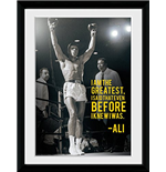 Muhammad Ali - I Am The Greatest (Foto In Cornice 30x40cm)