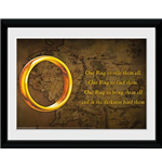 Lord Of The Rings - One Ring (Foto In Cornice 30x40cm)