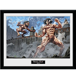 Foto In Cornice Attack On Titan - Titan Fight - 30x40cm
