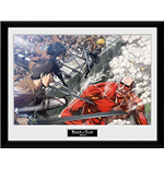 Attack On Titan - Fight Scene (Foto In Cornice 30x40cm)
