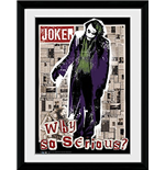 Batman The Dark Knight - Why So Serious (Foto In Cornice 30x40cm)