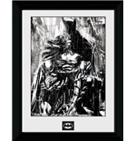 Batman Comic - Rain - Framed Photo 30x40 Cm