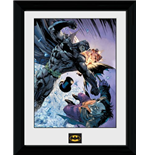 Batman Comic - Fist Fight (Foto In Cornice 30x40cm)