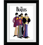 Beatles (The) - Yellow Submarine Group (Foto In Cornice 30x40cm)