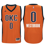 Maglia Oklahoma City Thunder Russell Westbrook adidas New Swingman Alternate Arancio