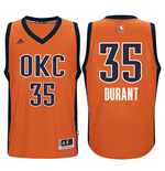 Maglia Oklahoma City Thunder Kevin Durant adidas New Swingman Alternate Arancio