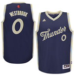 Maglia Oklahoma City Thunder Russell Westbrook adidas 2015 Christmas Day Swingman Blu