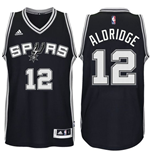Maglia San Antonio Spurs LaMarcus Aldridge adidas New Swingman Road Nero