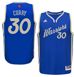 Maglia Golden State Warriors Stephen Curry adidas 2016 Christmas Day Swingman Blu