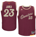 Maglia Cleveland Cavaliers LeBron James adidas 2016 Christmas Day Swingman Bordeaux