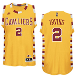 Maglia Cleveland Cavaliers Kyrie Irving adidas Gold Hardwood Classics Swingman