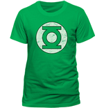 Dc Comics - Green Lantern - Distressed Logo (T-SHIRT Uomo )
