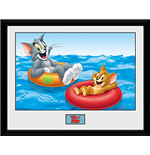 Tom & Jerry - Floats (Foto In Cornice 30x40cm)