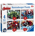 Ravensburger 07021 - Puzzle 4 In A Box - Avengers