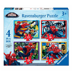 Ravensburger 07363 - Puzzle 4 In A Box - Ultimate Spider-Man
