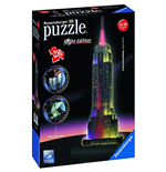 Ravensburger 12566 - Puzzle 3D Night Edition - Empire State Building Con Luce