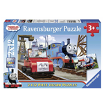Ravensburger 07568 - Puzzle 2x12 Pz - Thomas And Friends