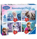 Ravensburger 07360 - Puzzle 4 In A Box - Frozen