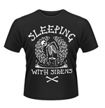 T-shirt Sleeping with Sirens Skeleton