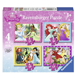 Ravensburger 07397 - Puzzle 4 In A Box - Principesse Disney