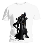 T-shirt Batman Arkham City Back To Back. Maglia ufficiale Emi Music