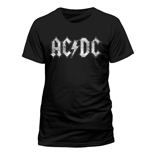 AC/DC - White Logo Distressed (unisex )
