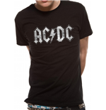 AC/DC - White Logo Distressed (T-SHIRT Unisex )
