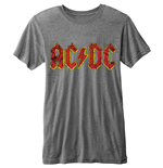 AC/DC - BURN-OUT Logo (T-SHIRT Unisex )