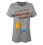 Adventure Time - Grey Melange What Time (T-SHIRT Unisex )