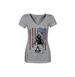 ASSASSIN'S Creed Iii - Grey Tattered Flag (T-SHIRT Unisex )