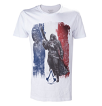 ASSASSIN'S Creed Unity - White French Flag With Arno (T-SHIRT Unisex )