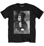 Amy Winehouse - Flower Portrait Black (T-SHIRT Unisex )